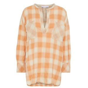 IRO • mayra check cotton-blend flannel shirt